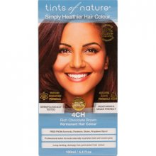 Tints of Nature Haarfarbe permanent 4CH schokobraun